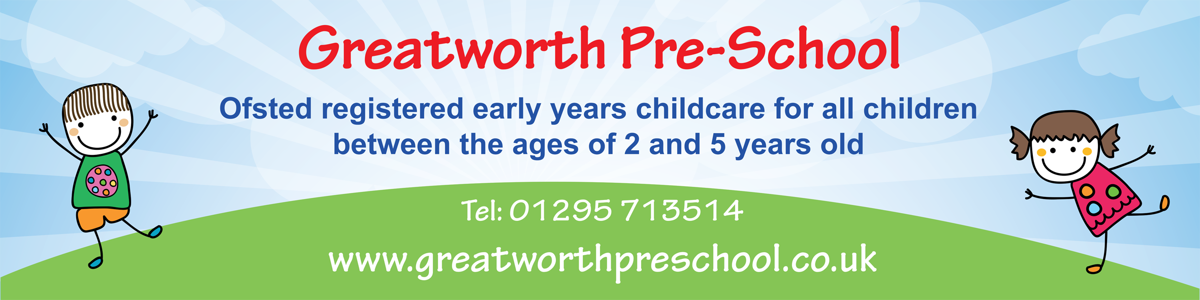 Banner Promotional Design Website Branding Greatworth PreSchool